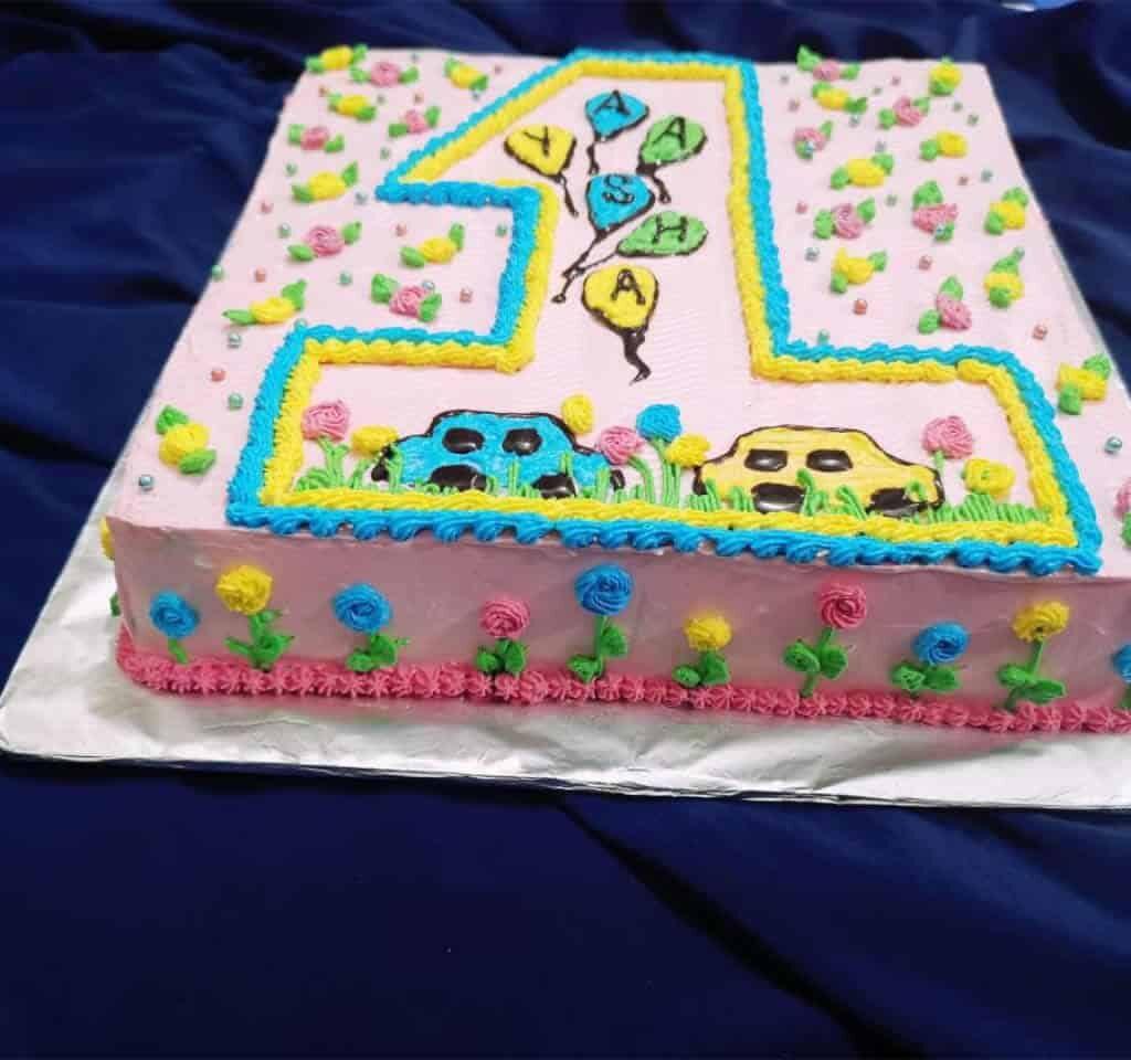 number design customize birthday cake