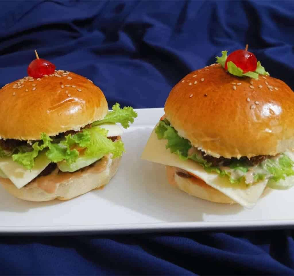 juicy chicken cheese burger